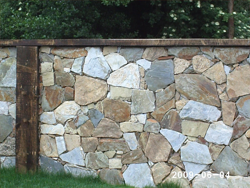 creso trabajos en piedra mamposteria2 muro hecho de cachotes de piedra rustica dos caras